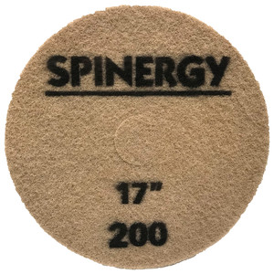 """Spinergy Stone Polishing Pad - 17"""" Brown (200 Grit)"""