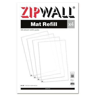 ZipWall® Mat Refill (4 30 packs)