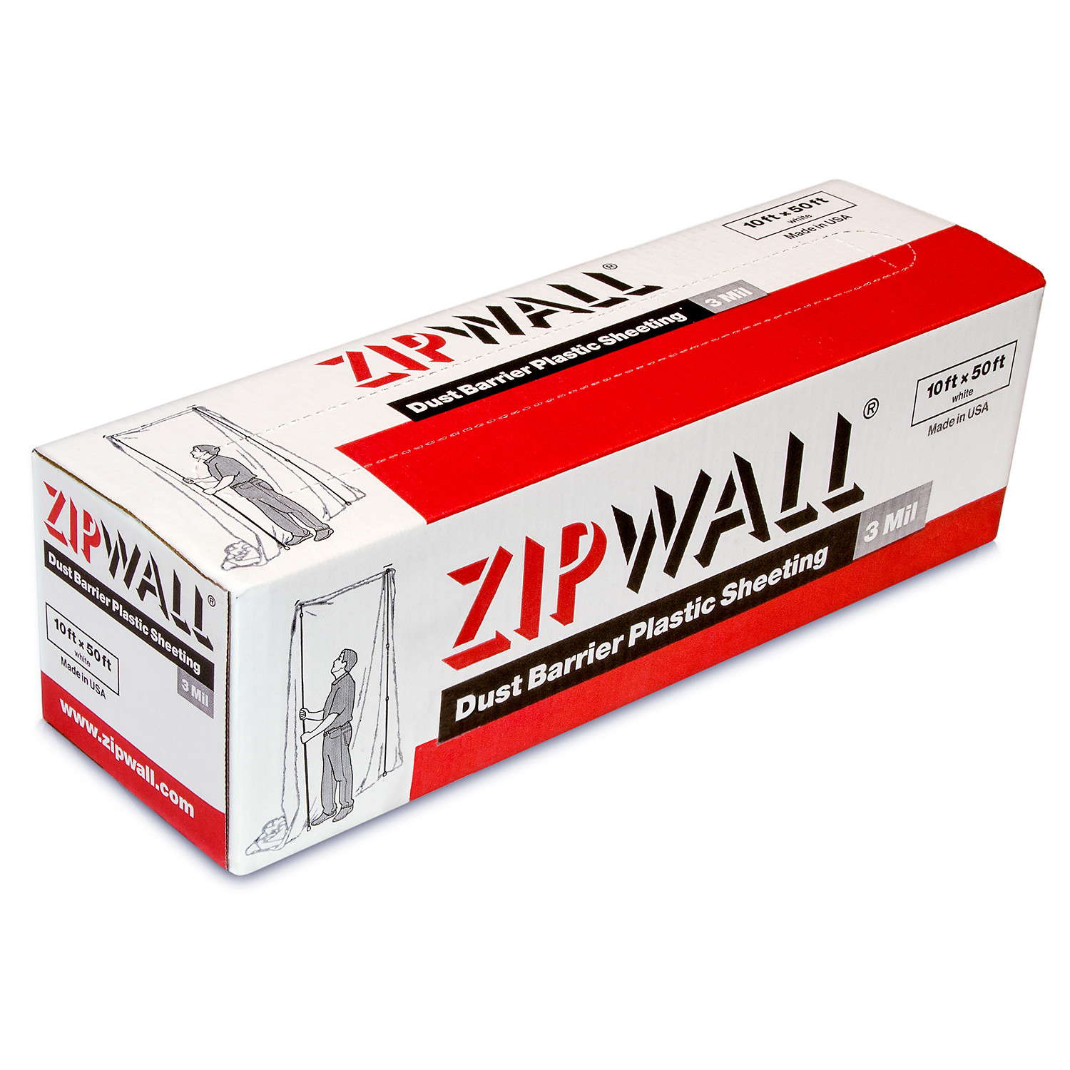 ZipWall Dust Barrier Plastic Sheeting