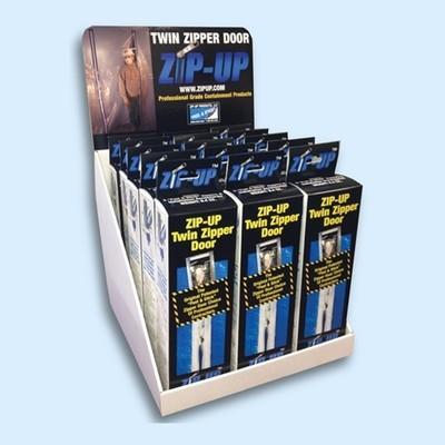 Zip-Up Twin Zipper Door Counter Display
