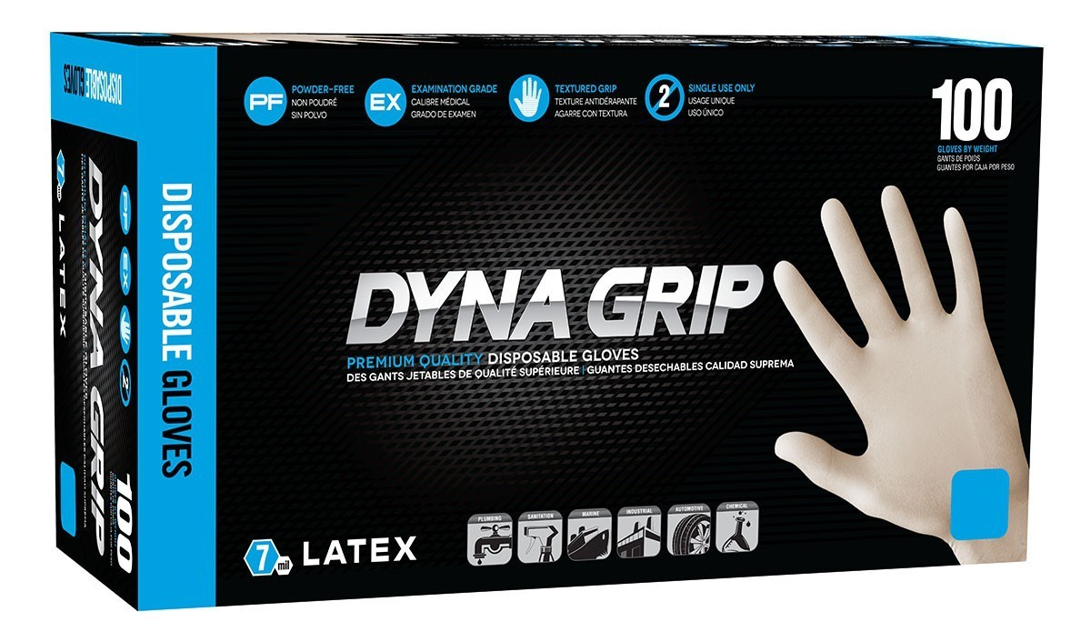 Dyna Grip Latex Disposable Gloves (100 ct.)  Select Size