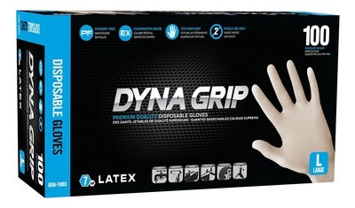 Dyna Grip Latex Disposable Gloves (Powder-Free) - Large (100 ct.)