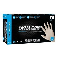Dyna Grip Latex Disposable Gloves (Powder-Free) - X-Large (100 ct.)