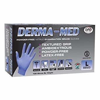 Derma-Med Nitrile Disposable Glove - Large (100ct.)