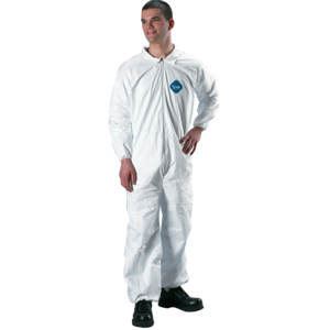 DuPont Tyvek Protective Coverall, Med.