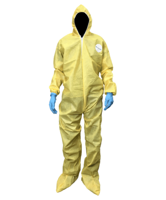 Shieldtech 55 Yellow Chemical Protection Coveralls - Md