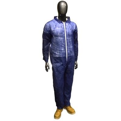 Radnor Blue Polypropylene Disposable Coveralls, XL (25ct)