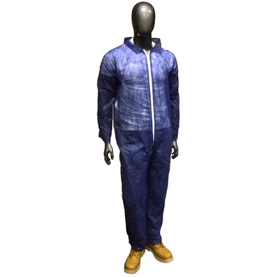 Radnor Blue Polypropylene Disposable Coveralls, Large (25ct)