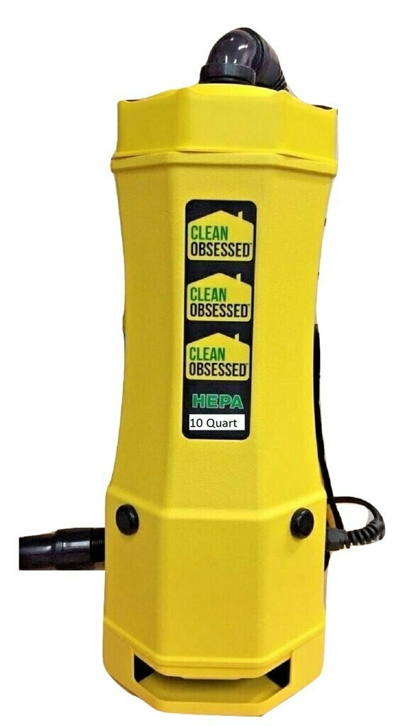 Clean Obsessed 10 QT. Commercial Backpack Vacuum