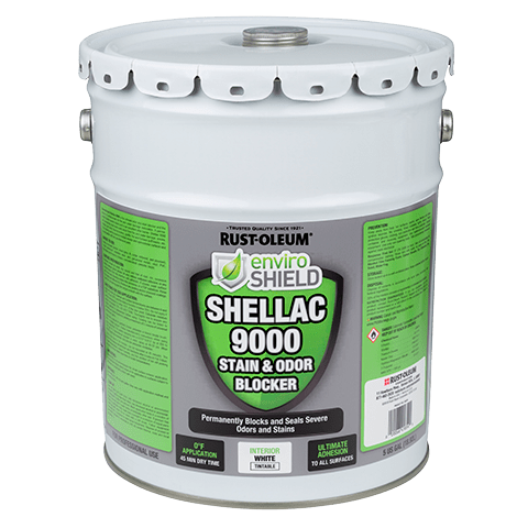 Enviroshield Shellac 9000 Odor & Stain Blocker, Wht (5 gal.)