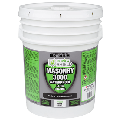 Enviroshield Masonry 3000 Waterproofer, Wht (5 gal.)