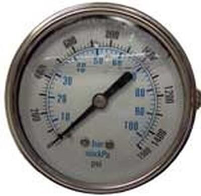 Pressure Gauge 1500psi Panel Mount