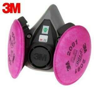 3M Half Face Respirator with 2097 Pancake Filters (Med.)