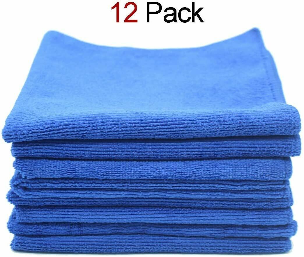 A&B Microfiber 16x16 Cloth, Blue (12 pack)