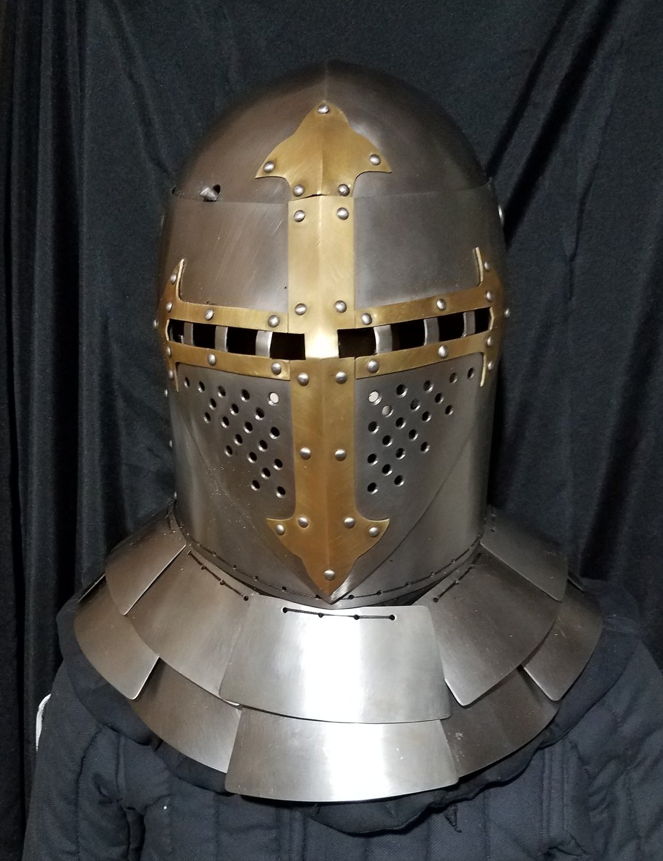 (AOC) Mid 14th Century Visored Sugarloaf Helm