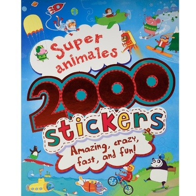 2000 Stickers, super animales