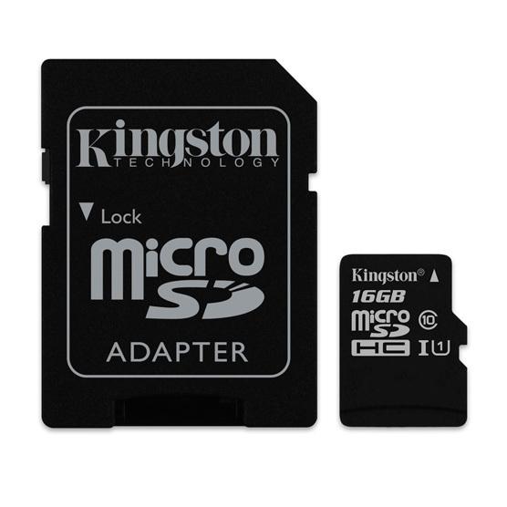 Memoria Micro SDHC Kingston 16GB Canvas Select 80R CL10 UHS-I Card
