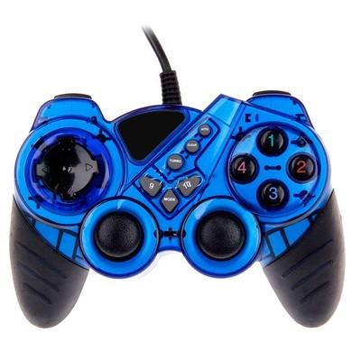 Control USB PC Con 2 Motores + Vibration Azul