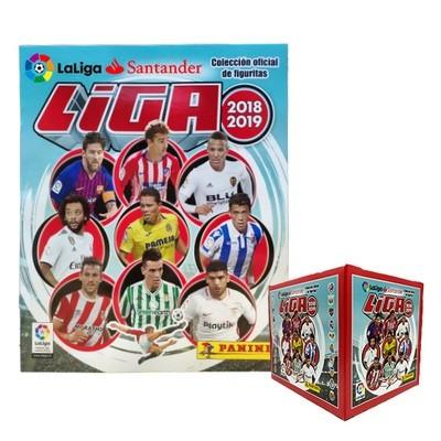 Liga 2018-2019 Caja 50 sobres + Album Panini