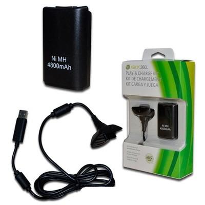 XBOX 360 Bateria recargable y cable