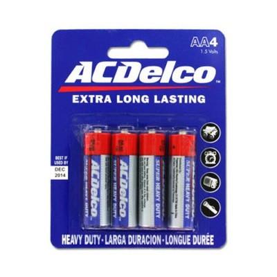 Baterias Doble AA Heavy Duty Delco (4 unidades)