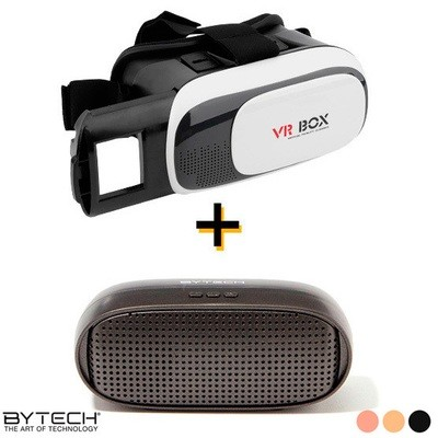 Bocina Bluetooth y Lentes VR Box 2.0