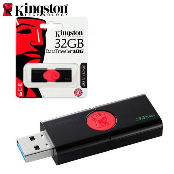 Memoria Flashdrive USB 3.1 32gb Kingston data traveler 106 740617282368