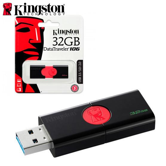 Memoria Flashdrive USB 3.1 32gb Kingston data traveler 106