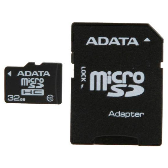 Memoria 32GB micro SDHC + Adaptador