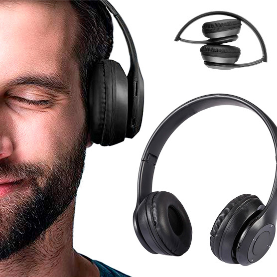 Audifonos Bluetooth Recargables  Micro SD + FM 8690504001547