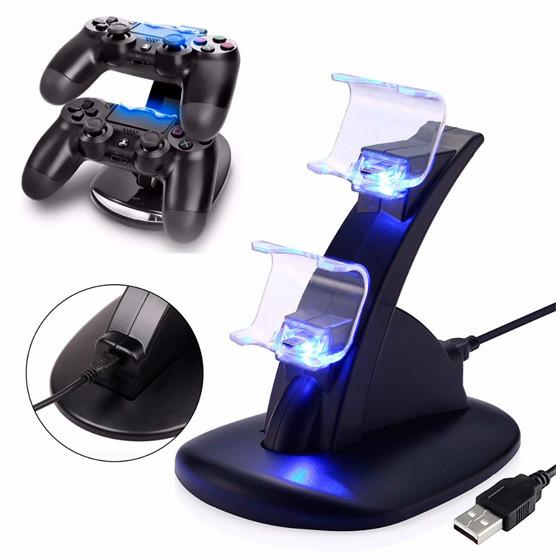 PS4 Cargador para 2 Controles