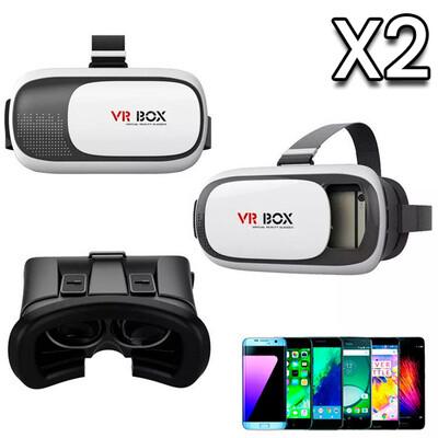 Combo de 2: Lentes VR Box 2.0 Para Celular