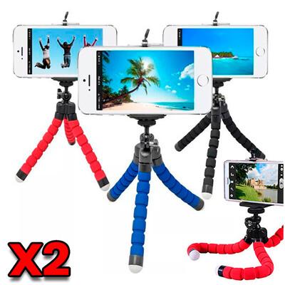 Combo de 2: Mini Tripodes Flexibles para Celular