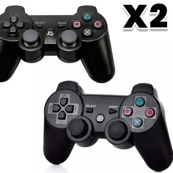 Combo de 2: Controles  Inalambricos Negros para PS3
