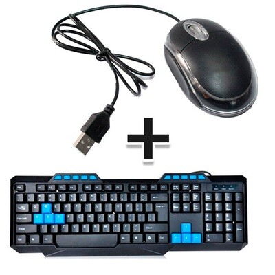Combo: Teclado Multimedia Deluxe + Mouse Optico