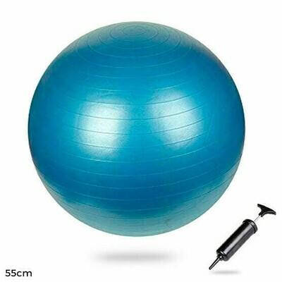 Pelota Pilates y Yoga 55cm + Inflador