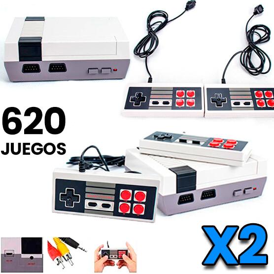 Combo de 2: Consola NES Retro Mini 620 juegos + 2 Controles