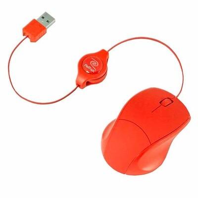 Mouse rojo retractable