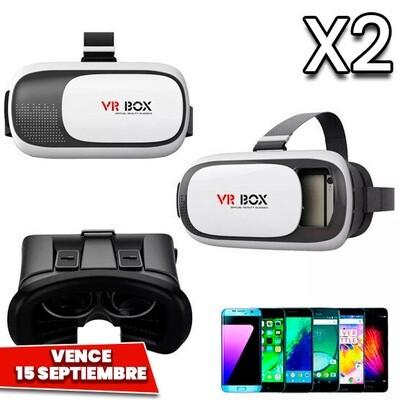 Combo de 2: Lentes VR Box 2.0 Para Celular. Vence 15 Septiembre