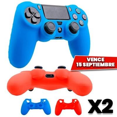 Combo de 2: PS4 Estuches Silicon Control Dualshock 4. Vence 15 Septiembre