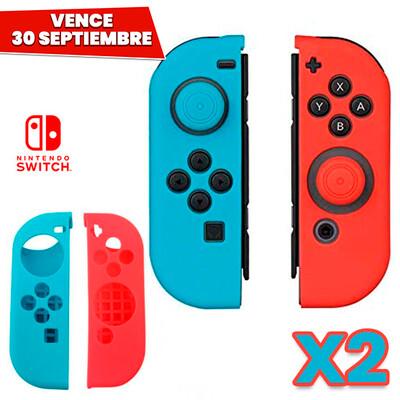 COMBO 2 Pares: Estuche Silicon para Joy-con Rojo Azul. Vence 30 Septiembre
