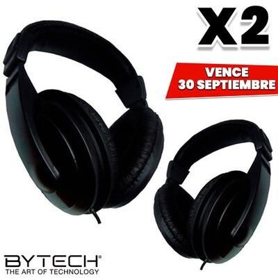 COMBO de 2 Audifonos Pro Grandes Bytech. Vence 30 Septiembre