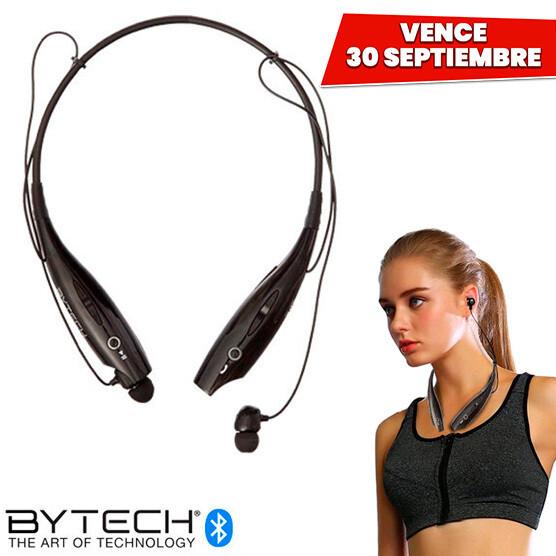 Audifonos Sport Bluetooth con Microfono Bytech USA. Vence 30 Septiembre