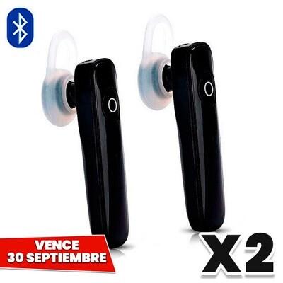 COMBO de 2: Handsfree Bluetooth Universal para Celular. Vence 30 Septiembre