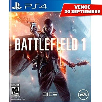 PS4 Battlefield 1. Vence 30 Septiembre