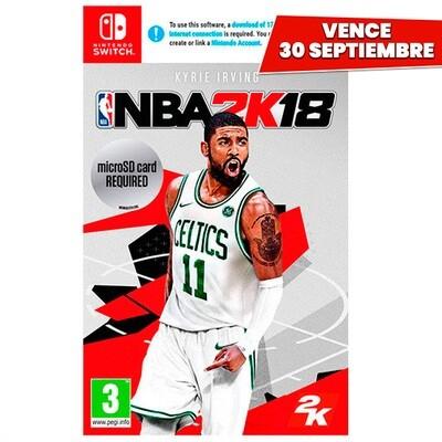 Nintendo Switch NBA 2K18. Vence 30 Septiembre