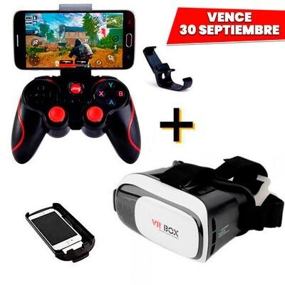 COMBO Control Bluetooth para Celular + Lentes VR BOX 2. Vence 30 Septiembre