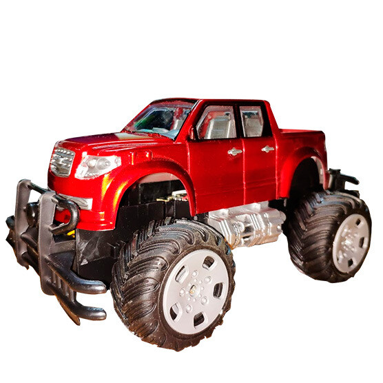 Pickup control remoto Climbers 4 canales, luces Led, Rojo
