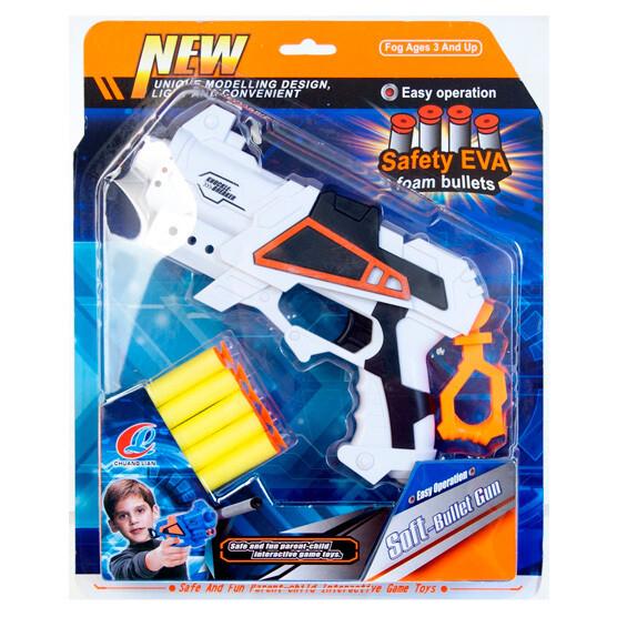 Pistola con balas suaves (5 unidades)