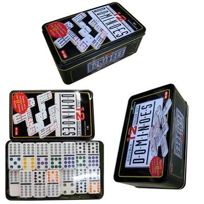 Domino Deluxe caja de metal 91 piezas